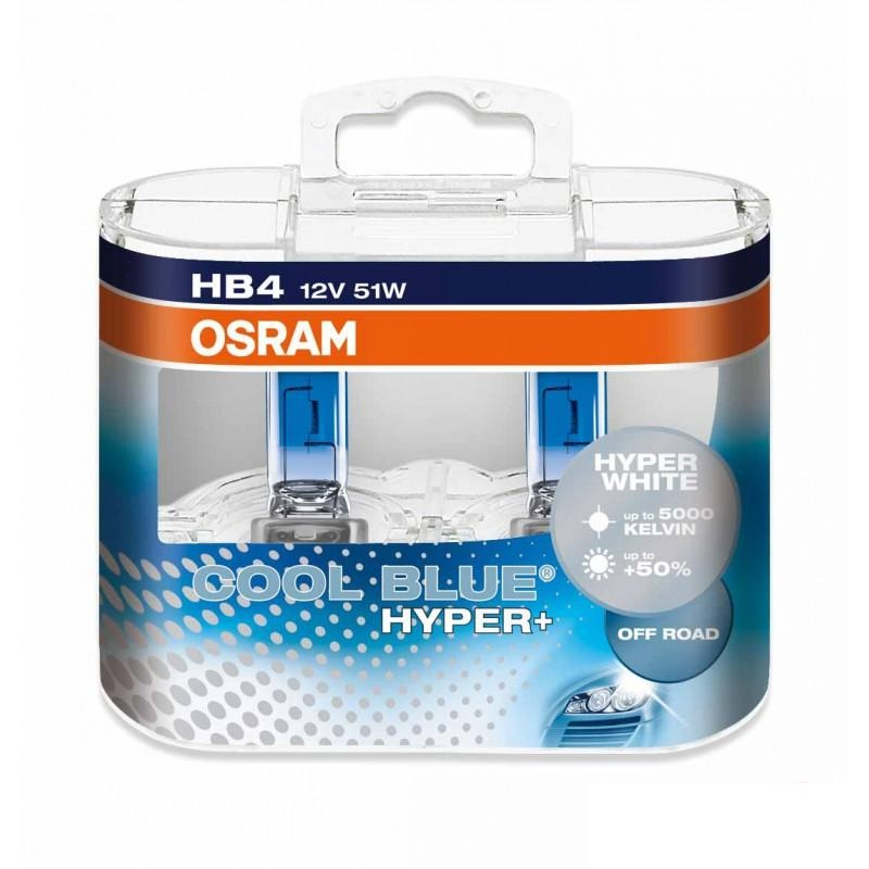 Комплект ламп OSRAM HB4 COOL BLUE HYPER PLUS 50% (12V 51W P22d)