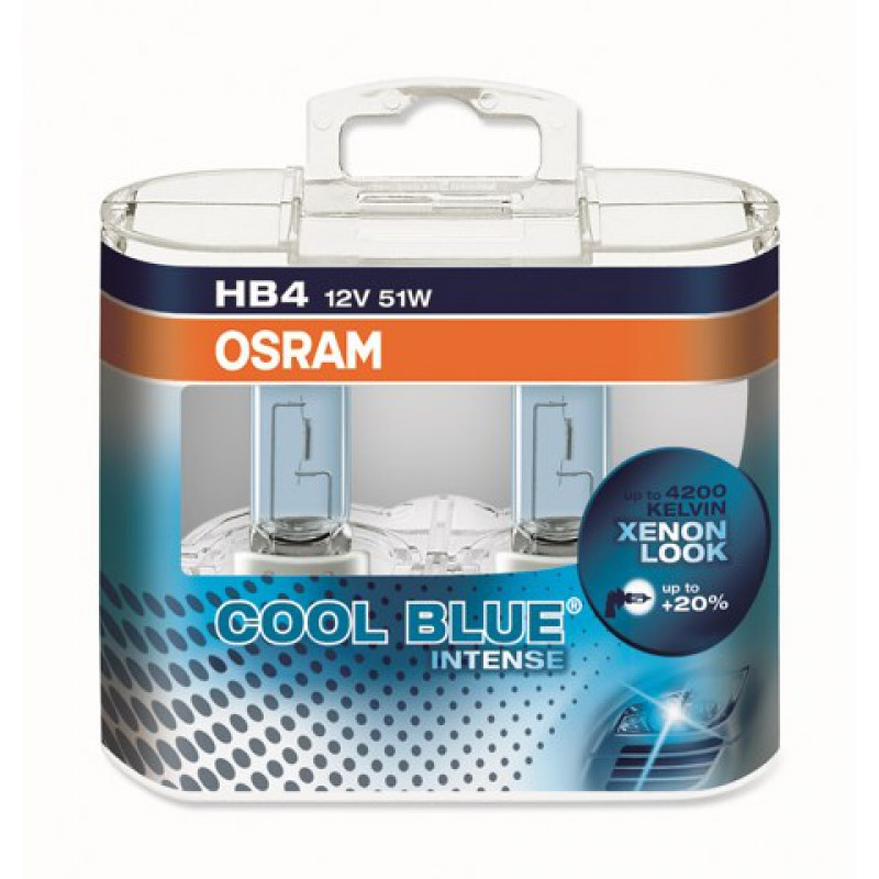Комплект ламп OSRAM HB4 COOL BLUE INTENSE  20% (12V 51W P22D)