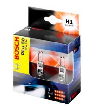Автолампа BOSCH H1 Extralife Plus 50 (12V 5W)