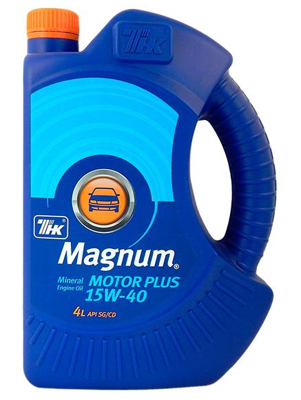 Масло моторное минеральное ТНК Маgnum Motor Plus 15W40 4л