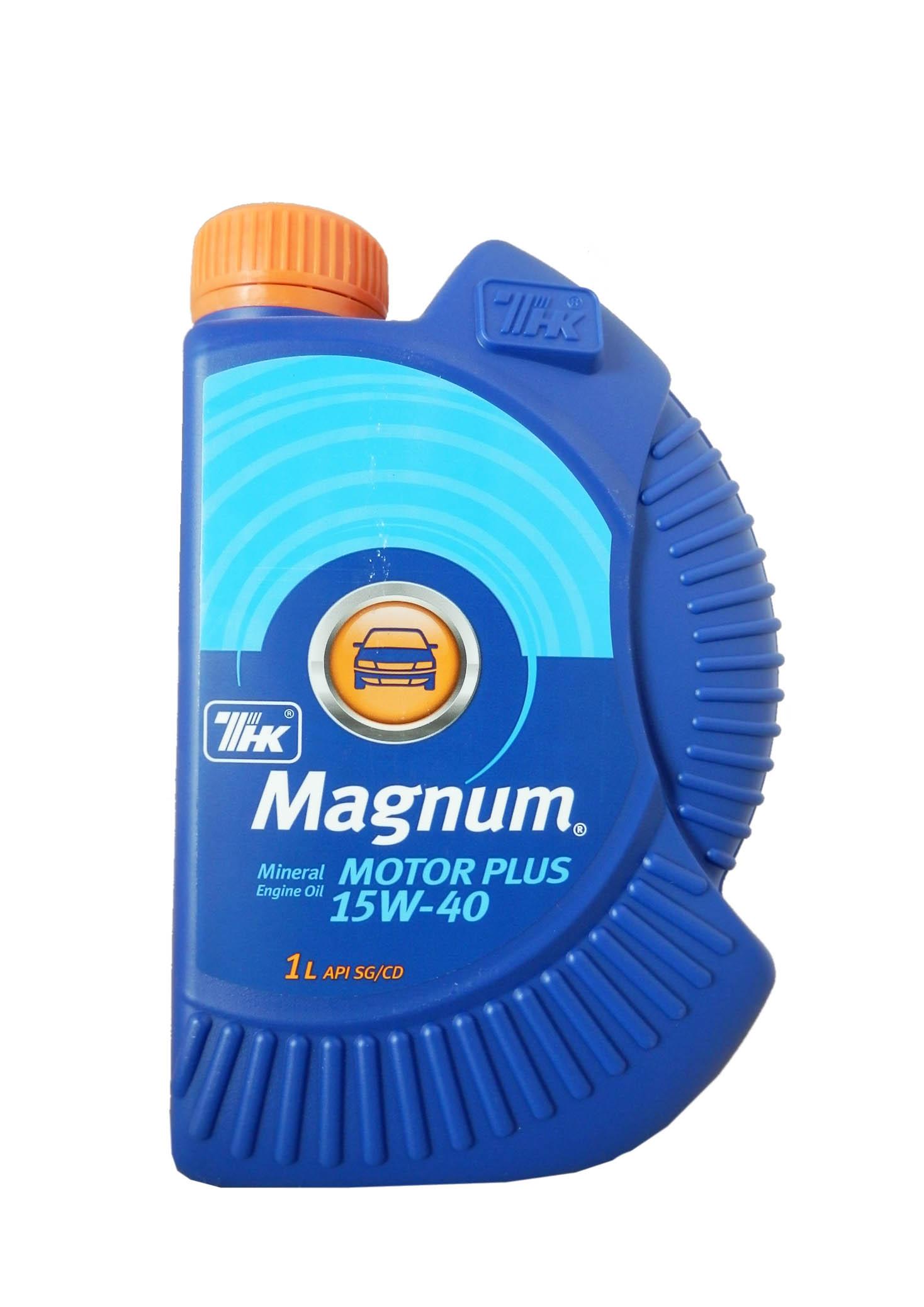 Масло моторное минеральное ТНК Маgnum Motor Plus 15W40 1л