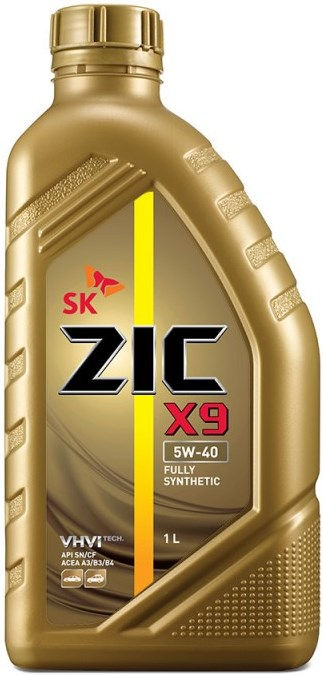 Масло моторное Синтетическое 1л - ZIC X9 5W40