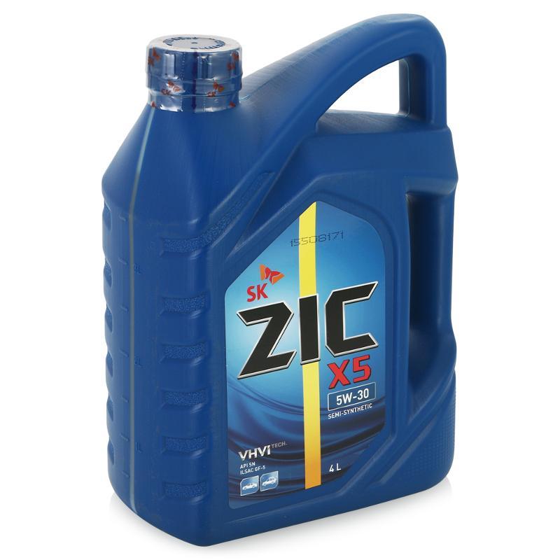 Масло моторное Полусинтетическое 4л - ZIC X5 5W30