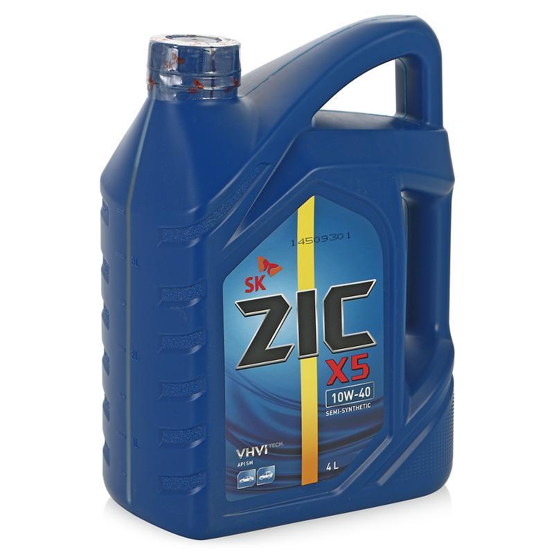 Масло моторное Полусинтетическое 4л - ZIC X5 10W40