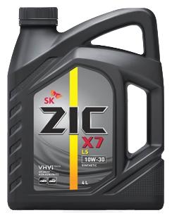 Масло моторное Синтетическое 4л - ZIC X7 LS 10W30