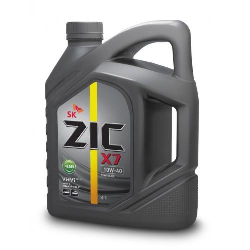 Масло моторное Синтетическое 4л - ZIC X7 DIESEL 10W40