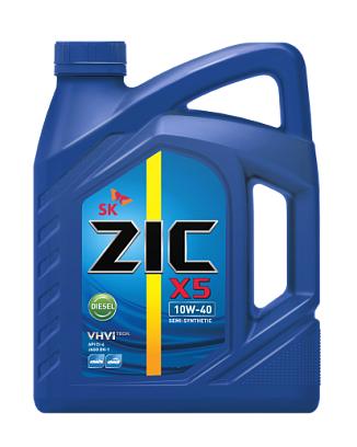 Масло моторное Полусинтетическое 6л - ZIC X5 DIESEL 10W40