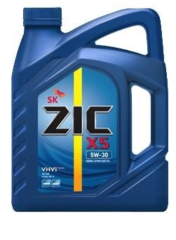Масло моторное Полусинтетическое 6л - ZIC X5 5W30