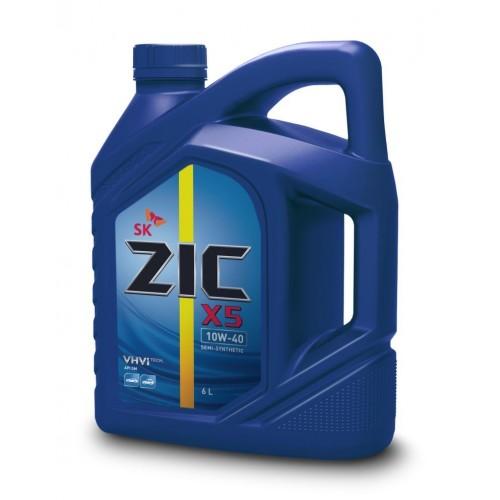 Масло моторное Полусинтетическое 6л - ZIC X5 10W40