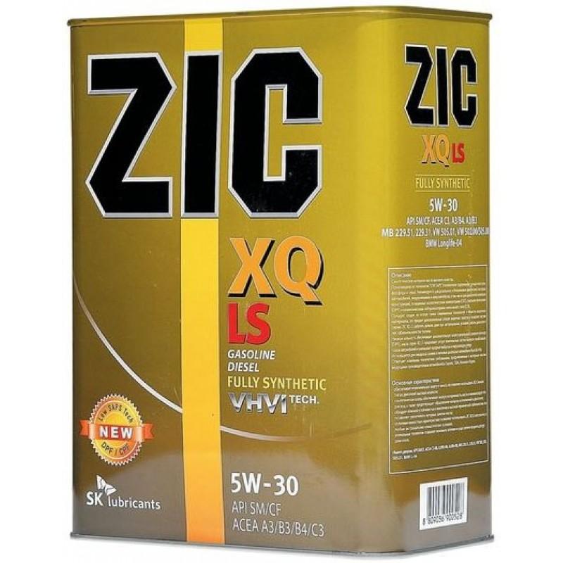 Масло моторное Синтетическое 4л - ZIC XQ LS 5W30