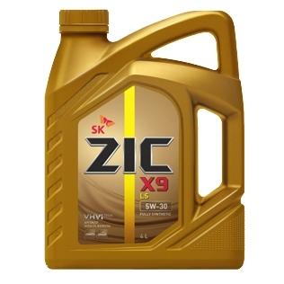 Масло моторное Синтетическое 4л - ZIC X9 LS 5W30