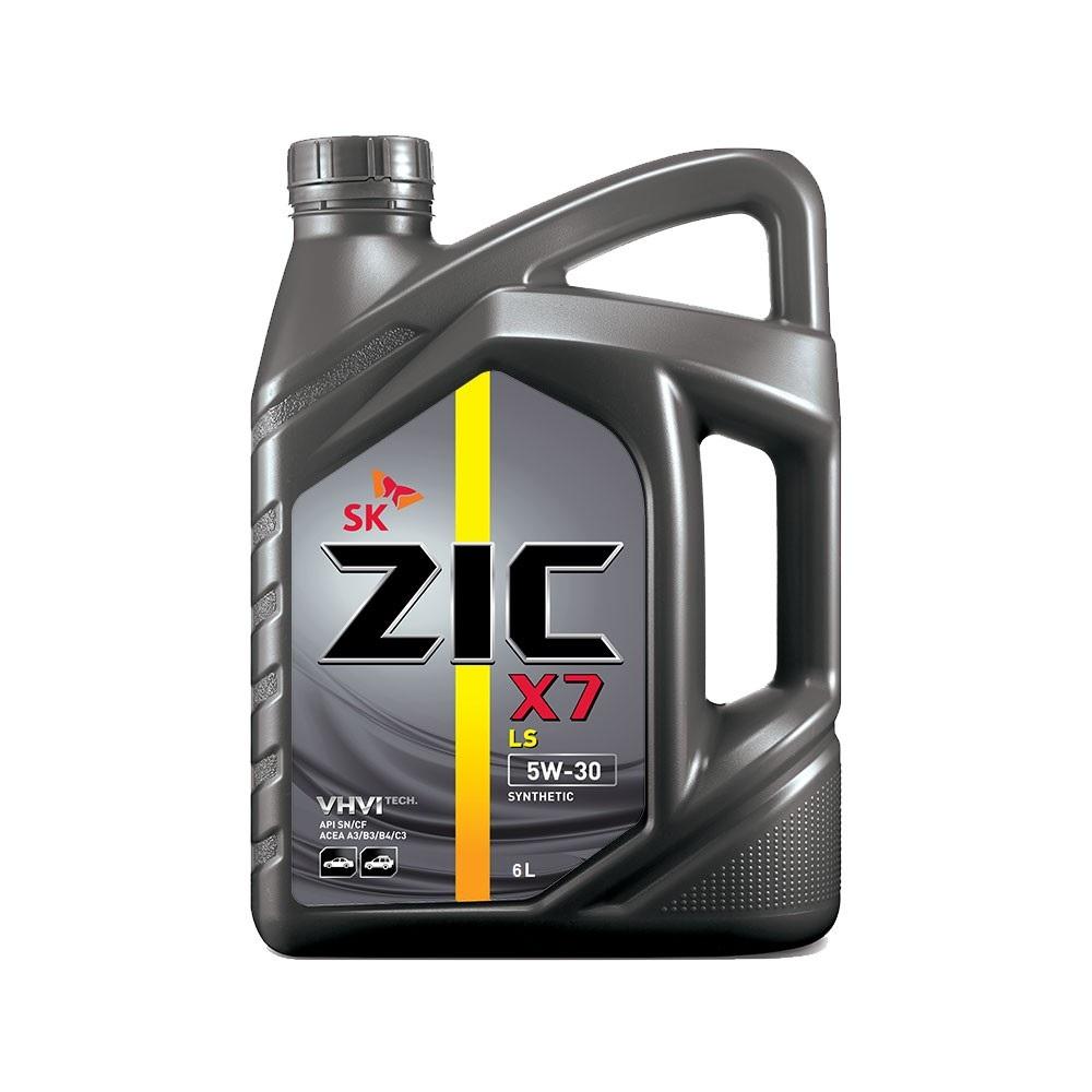 Масло моторное Синтетическое 6л - ZIC X7 LS 5W30