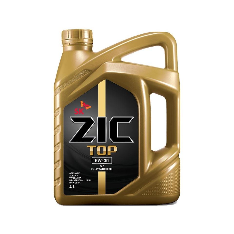 Масло моторное Синтетическое 4л - ZIC TOP 5W30