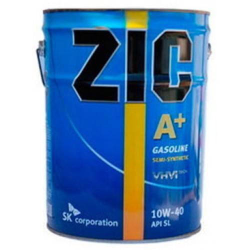 Масло моторное Полусинтетическое 20л - ZIC A PLUS 10W40