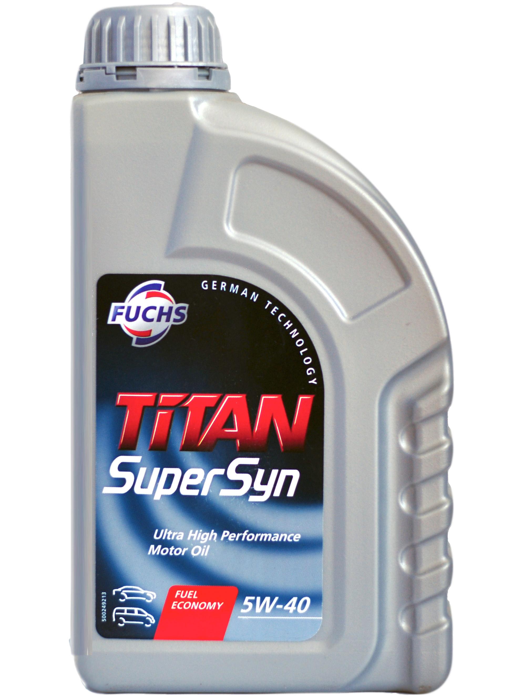 Масло моторное Синтетическое 1л - FUCHS TITAN Supersyn 5W40
