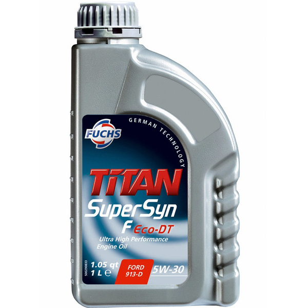 Масло моторное Синтетическое 1л - FUCHS TITAN SUPERSYN F ECO-DT 5W30
