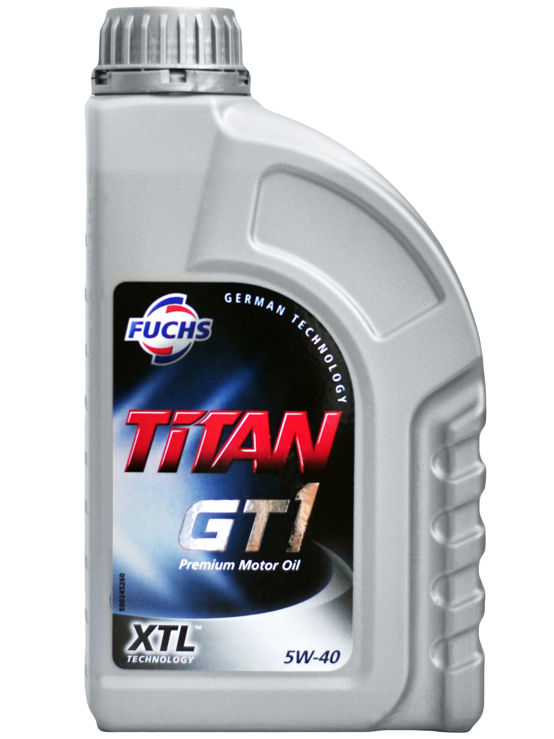 Масло моторное Синтетическое 1л - FUCHS TITAN GT1 5W40