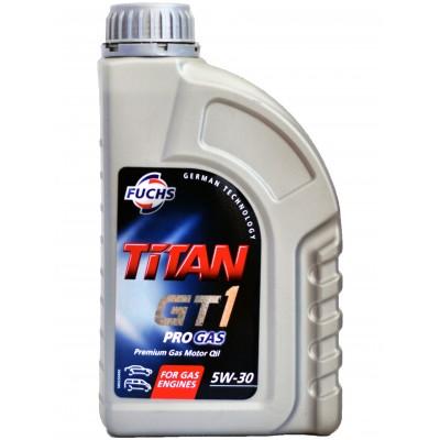 Масло моторное Синтетическое 1л - FUCHS TITAN GT1 PRO GAS 5W30