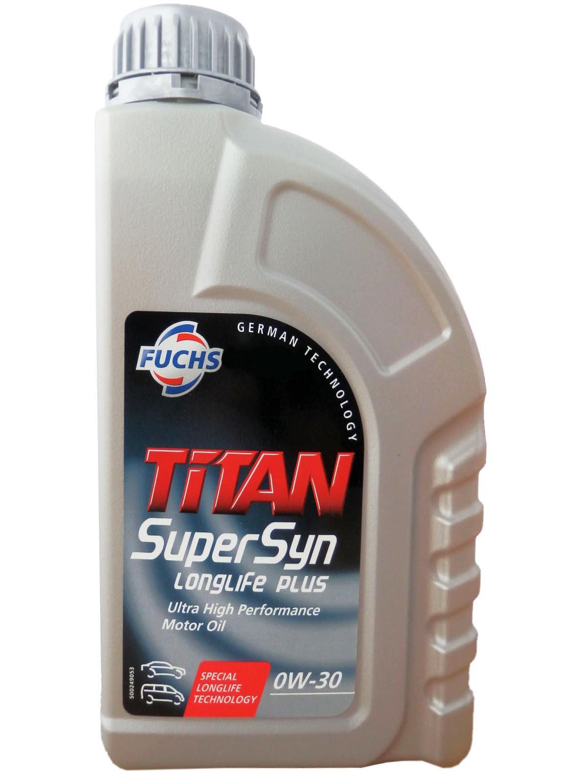 Масло моторное Синтетическое 1л - FUCHS TITAN Supersyn LONGLIFE PLUS 0W30