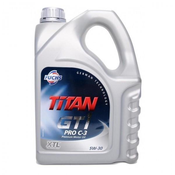 Масло моторное Синтетическое 4л - FUCHS TITAN GT1 PRO C-3 5W30