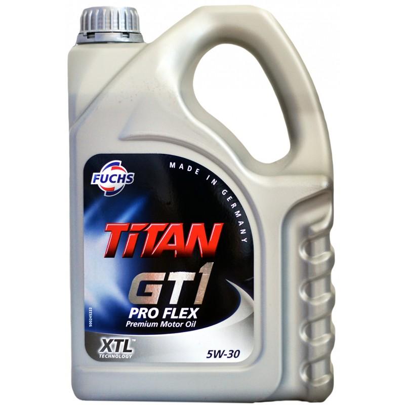 Масло моторное Синтетическое 5л - FUCHS TITAN GT1 PRO FLEX 5W30