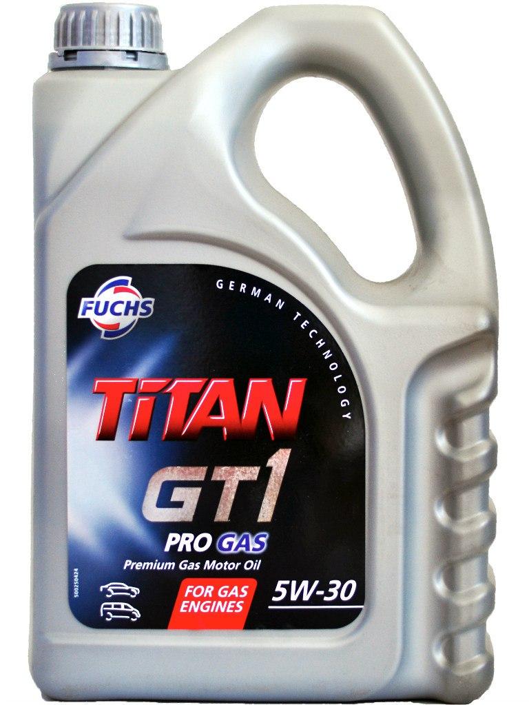 Масло моторное Синтетическое 4л - FUCHS TITAN GT1 PRO GAS 5W30