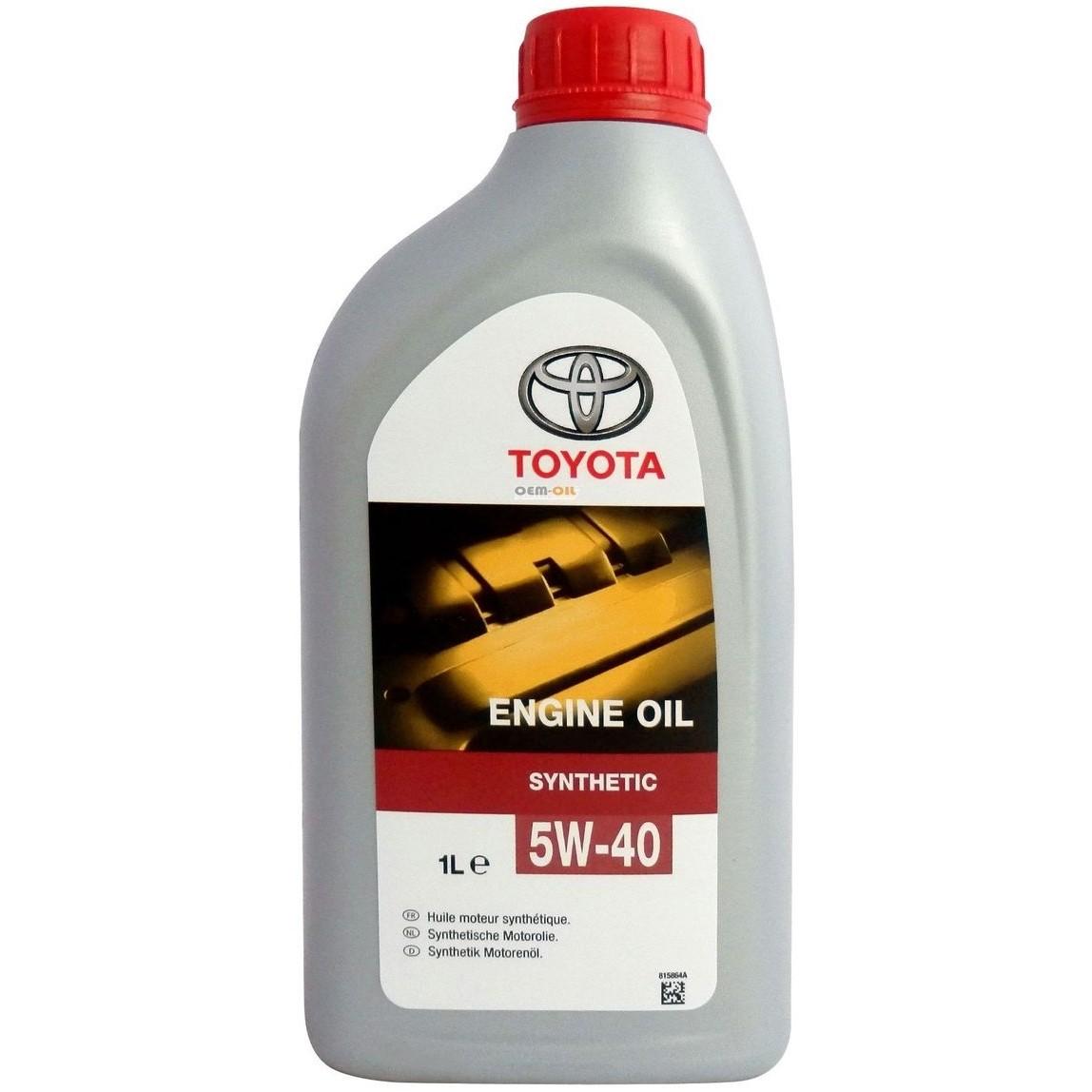 Масло моторное Синтетическое 1л - TOYOTA ENGINE OIL Synthetic 5W-40