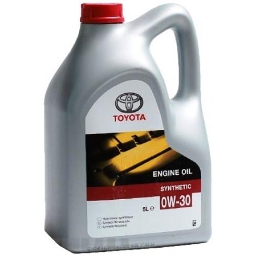 Масло моторное Синтетическое 5л - Toyota Engine Oil Synthetic 0W-30
