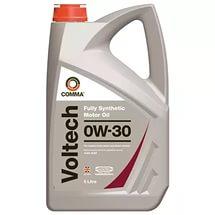 Масло моторное Синтетическое 5л - COMMA 0W30 Voltech