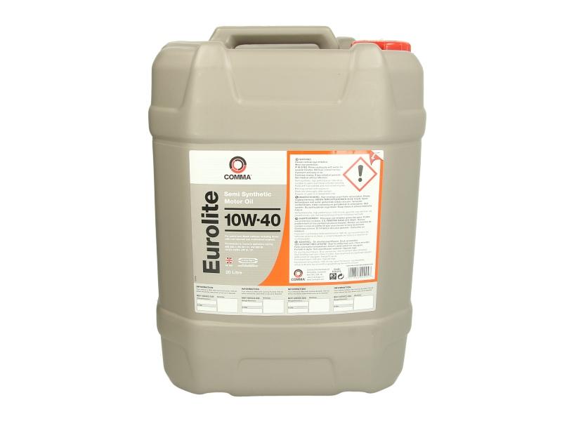 Масло моторное Полусинтетическое 20л - COMMA 10W40 EUROLITE