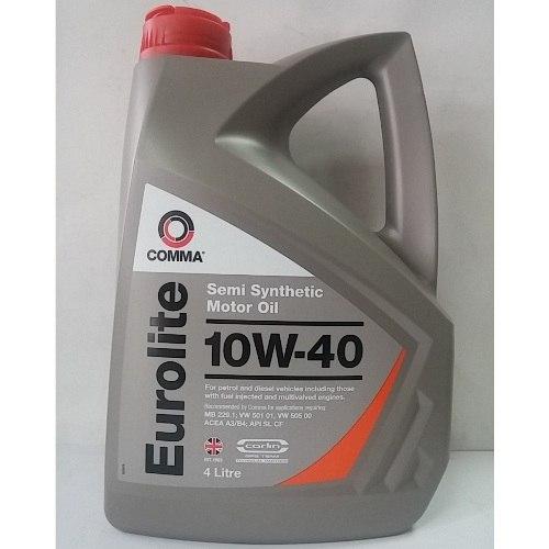 Масло моторное Полусинтетическое 4л - COMMA 10W40 EUROLITE