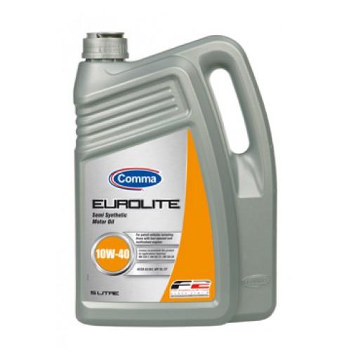 Масло моторное Полусинтетическое 5л - COMMA 10W40 EUROLITE