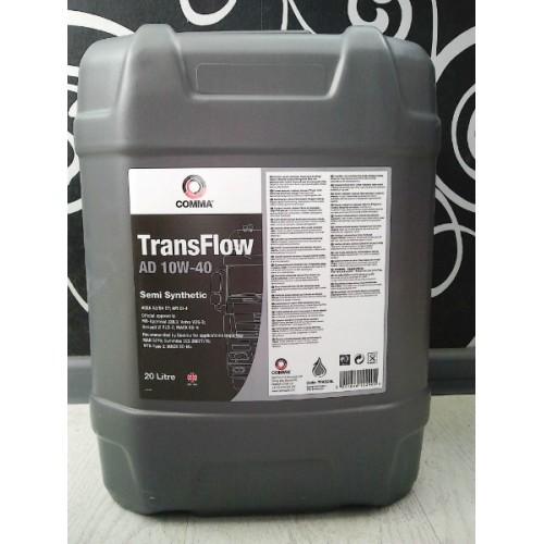 Масло моторное Полусинтетическое 20л - Comma 10W40 TransFlow AD