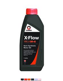 Масло моторное Полусинтетическое 1л - COMMA 10W40 X-FLOW TYPE S