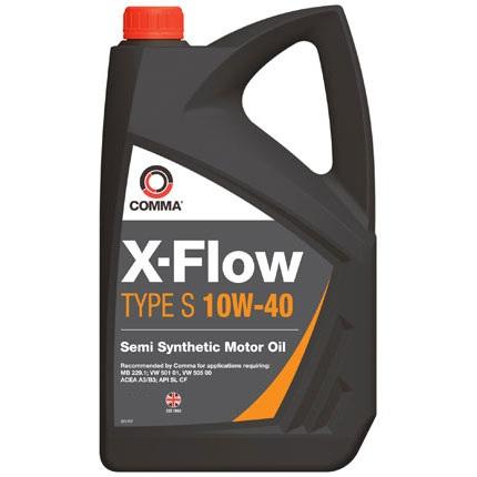 Масло моторное Полусинтетическое 5л - COMMA 10W40 X-FLOW TYPE S