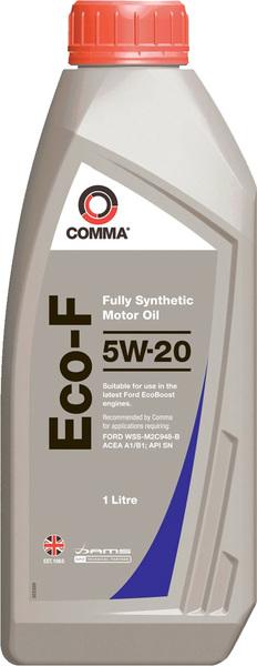 Масло моторное Синтетическое 1л - COMMA 5W20 ECO-F