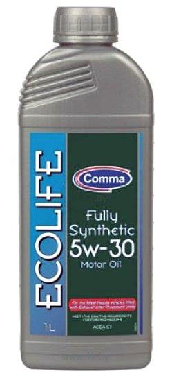 Масло моторное Синтетическое 1л - COMMA 5W30 ECOLIFE