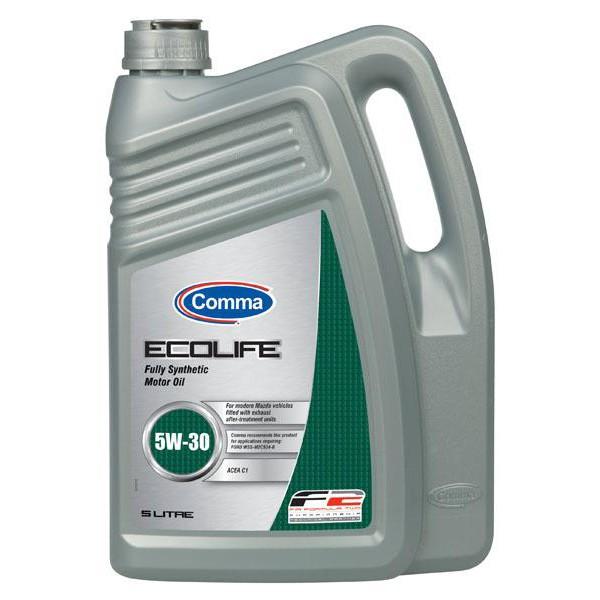 Масло моторное Синтетическое 5л - COMMA 5W30 ECOLIFE