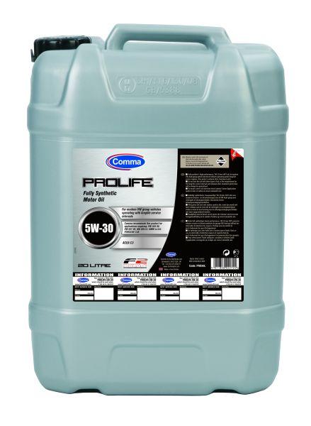 Масло моторное Синтетическое 20л - COMMA 5W30 PROLIFE
