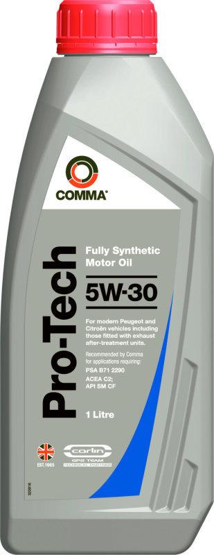 Масло моторное Синтетическое 1л - COMMA 5W30 PRO-TECH