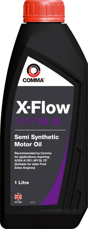 Масло моторное Полусинтетическое 1л - COMMA 5W30 X-FLOW TYPE F