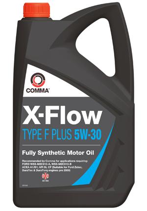Масло моторное Синтетическое 5л - COMMA 5W30 X-FLOW TYPE F PLUS