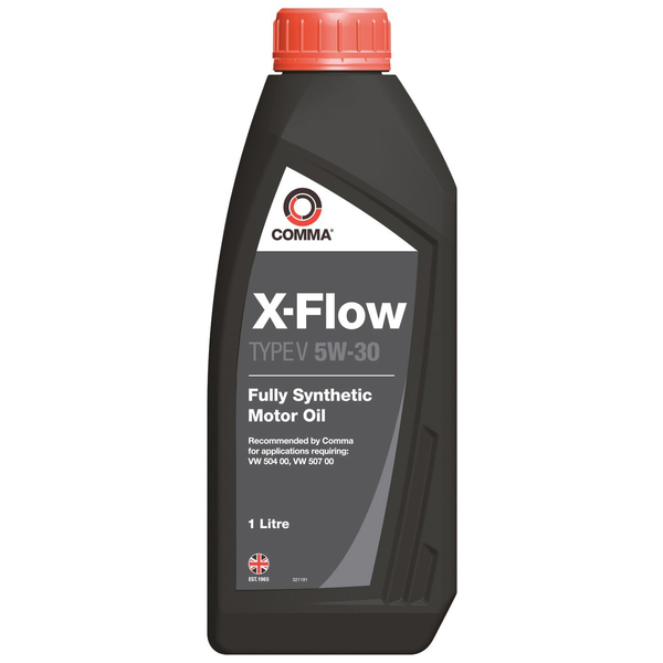 Масло моторное Синтетическое 1л - COMMA 5W30 X-FLOW TYPE V