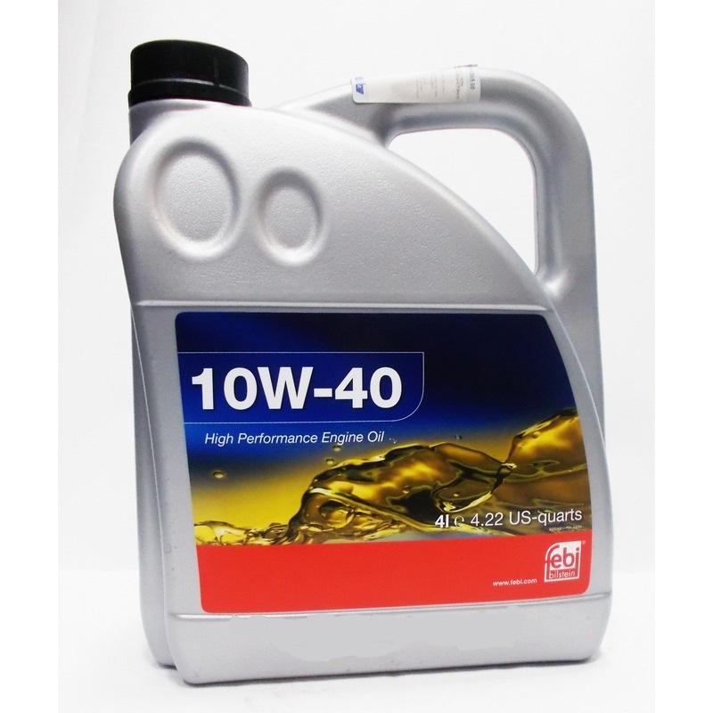 FEBI 10W-40 4L [API SL/CF/ACEA A3/B3/B4-02/MB 229.1/VW 501.01/505.00]