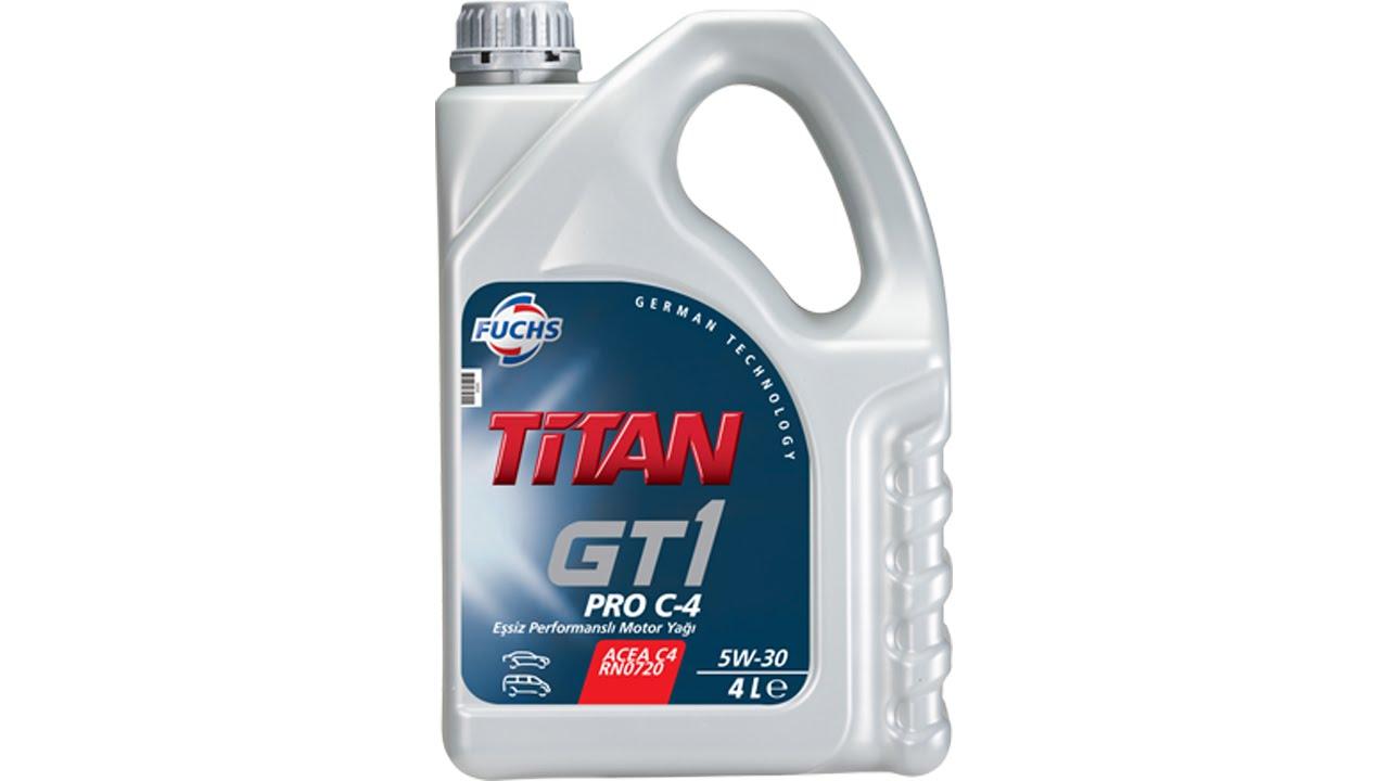 Масло моторное Синтетическое 4л - FUCHS TITAN GT1 PRO C-4 5W30