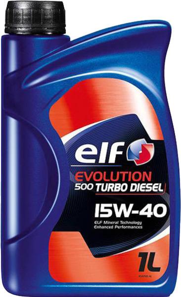 Масло моторное Минералка - ELF 15W40 EVOLUTION 500 TURBO DIESEL (1L) 1л