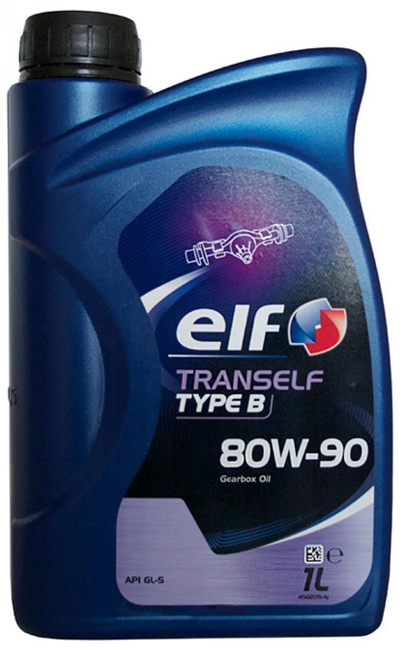 ELF 80W90 TRANSELF TYP B 1L МАСЛО ТРАНСМИССИОННОЕ API GL-5; для КПП и мостов с гипоидной передачей