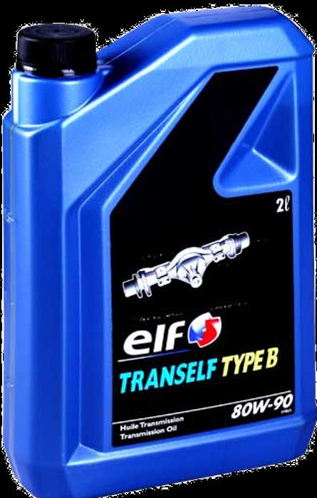 ELF 80W90 TRANSELF TYP B 2L МАСЛО ТРАНСМИССИОННОЕ API GL-5; для КПП и мостов с гипоидной передачей