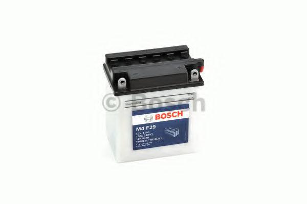 BOSCH Аккумулятор для мототехники BOSCH MOBA FP M4F 12V 11AH 90A (12N10-3B/YB10L-B/YB10L-B2) 136x91x146mm 4.2kg