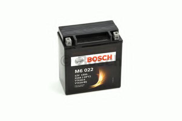 BOSCH Аккумулятор для мототехники BOSCH MOBA AGM M6 12V 14AH 220A (YTX16-4/YTX16-BS) 150x87x161mm 4.3kg
